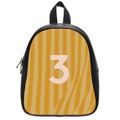 Number 3 Line Vertical Yellow Pink Orange Wave Chevron School Bags (small)  by Mariart