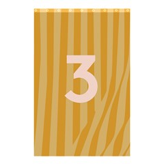 Number 3 Line Vertical Yellow Pink Orange Wave Chevron Shower Curtain 48  X 72  (small)  by Mariart