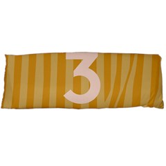 Number 3 Line Vertical Yellow Pink Orange Wave Chevron Body Pillow Case (dakimakura) by Mariart