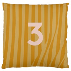 Number 3 Line Vertical Yellow Pink Orange Wave Chevron Large Cushion Case (two Sides) by Mariart