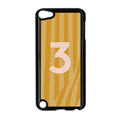 Number 3 Line Vertical Yellow Pink Orange Wave Chevron Apple Ipod Touch 5 Case (black) by Mariart