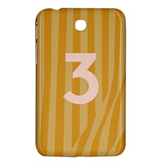 Number 3 Line Vertical Yellow Pink Orange Wave Chevron Samsung Galaxy Tab 3 (7 ) P3200 Hardshell Case  by Mariart