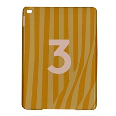 Number 3 Line Vertical Yellow Pink Orange Wave Chevron Ipad Air 2 Hardshell Cases by Mariart