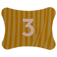 Number 3 Line Vertical Yellow Pink Orange Wave Chevron Jigsaw Puzzle Photo Stand (bow) by Mariart