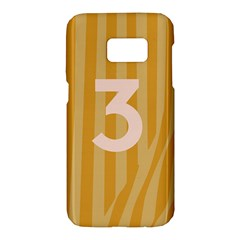 Number 3 Line Vertical Yellow Pink Orange Wave Chevron Samsung Galaxy S7 Hardshell Case  by Mariart