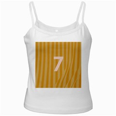 Number 7 Line Vertical Yellow Pink Orange Wave Chevron White Spaghetti Tank by Mariart