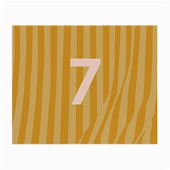 Number 7 Line Vertical Yellow Pink Orange Wave Chevron Small Glasses Cloth