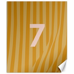 Number 7 Line Vertical Yellow Pink Orange Wave Chevron Canvas 20  X 24   by Mariart