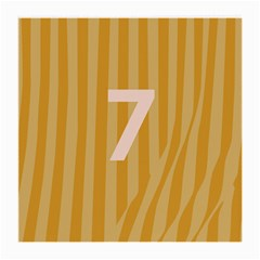 Number 7 Line Vertical Yellow Pink Orange Wave Chevron Medium Glasses Cloth