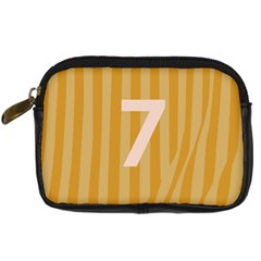 Number 7 Line Vertical Yellow Pink Orange Wave Chevron Digital Camera Cases by Mariart