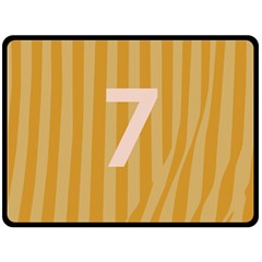 Number 7 Line Vertical Yellow Pink Orange Wave Chevron Fleece Blanket (large)  by Mariart
