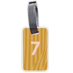 Number 7 Line Vertical Yellow Pink Orange Wave Chevron Luggage Tags (two Sides) by Mariart