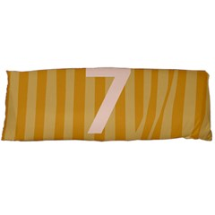 Number 7 Line Vertical Yellow Pink Orange Wave Chevron Body Pillow Case (dakimakura) by Mariart