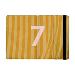 Number 7 Line Vertical Yellow Pink Orange Wave Chevron Apple Ipad Mini Flip Case by Mariart