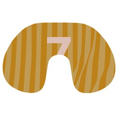 Number 7 Line Vertical Yellow Pink Orange Wave Chevron Travel Neck Pillows by Mariart