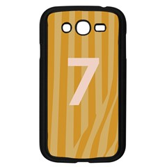 Number 7 Line Vertical Yellow Pink Orange Wave Chevron Samsung Galaxy Grand Duos I9082 Case (black) by Mariart