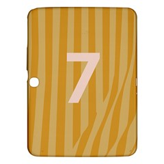 Number 7 Line Vertical Yellow Pink Orange Wave Chevron Samsung Galaxy Tab 3 (10 1 ) P5200 Hardshell Case  by Mariart