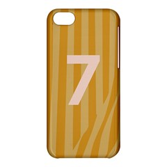 Number 7 Line Vertical Yellow Pink Orange Wave Chevron Apple Iphone 5c Hardshell Case by Mariart