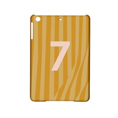 Number 7 Line Vertical Yellow Pink Orange Wave Chevron Ipad Mini 2 Hardshell Cases by Mariart