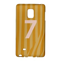 Number 7 Line Vertical Yellow Pink Orange Wave Chevron Galaxy Note Edge by Mariart
