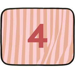 Number 4 Line Vertical Red Pink Wave Chevron Double Sided Fleece Blanket (mini)  by Mariart