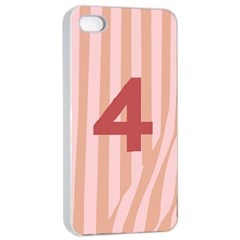 Number 4 Line Vertical Red Pink Wave Chevron Apple Iphone 4/4s Seamless Case (white) by Mariart