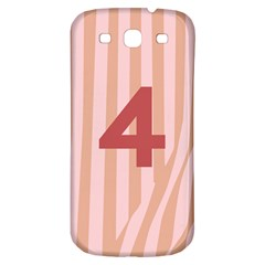 Number 4 Line Vertical Red Pink Wave Chevron Samsung Galaxy S3 S Iii Classic Hardshell Back Case by Mariart