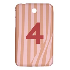 Number 4 Line Vertical Red Pink Wave Chevron Samsung Galaxy Tab 3 (7 ) P3200 Hardshell Case  by Mariart