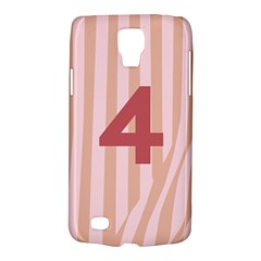 Number 4 Line Vertical Red Pink Wave Chevron Galaxy S4 Active by Mariart