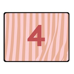 Number 4 Line Vertical Red Pink Wave Chevron Double Sided Fleece Blanket (small)  by Mariart