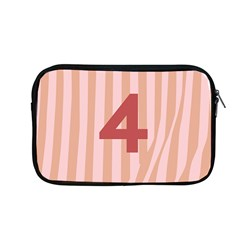 Number 4 Line Vertical Red Pink Wave Chevron Apple Macbook Pro 13  Zipper Case by Mariart