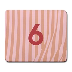 Number 6 Line Vertical Red Pink Wave Chevron Large Mousepads by Mariart