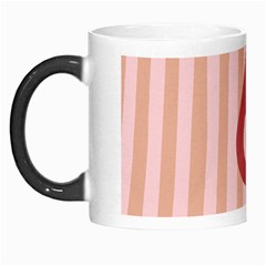 Number 6 Line Vertical Red Pink Wave Chevron Morph Mugs by Mariart