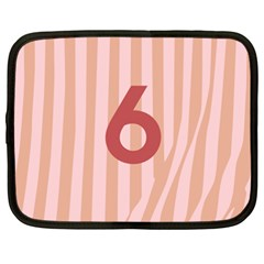 Number 6 Line Vertical Red Pink Wave Chevron Netbook Case (xxl)  by Mariart