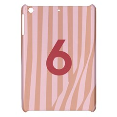 Number 6 Line Vertical Red Pink Wave Chevron Apple Ipad Mini Hardshell Case by Mariart