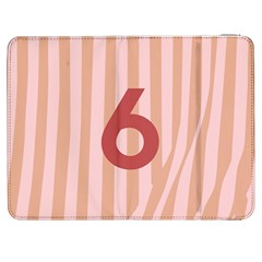 Number 6 Line Vertical Red Pink Wave Chevron Samsung Galaxy Tab 7  P1000 Flip Case by Mariart
