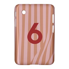 Number 6 Line Vertical Red Pink Wave Chevron Samsung Galaxy Tab 2 (7 ) P3100 Hardshell Case  by Mariart