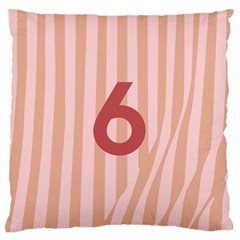Number 6 Line Vertical Red Pink Wave Chevron Standard Flano Cushion Case (one Side) by Mariart