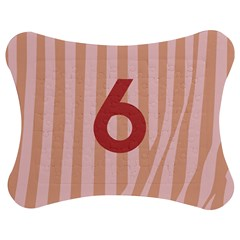 Number 6 Line Vertical Red Pink Wave Chevron Jigsaw Puzzle Photo Stand (bow) by Mariart