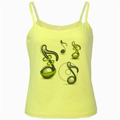 Notes Musical Elements Yellow Spaghetti Tank by Mariart