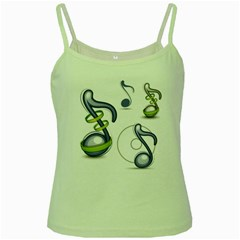 Notes Musical Elements Green Spaghetti Tank by Mariart