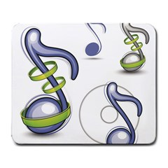 Notes Musical Elements Large Mousepads by Mariart