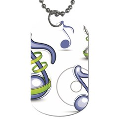 Notes Musical Elements Dog Tag (two Sides)