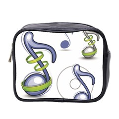Notes Musical Elements Mini Toiletries Bag 2 Side by Mariart