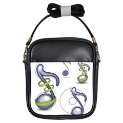 Notes Musical Elements Girls Sling Bags by Mariart