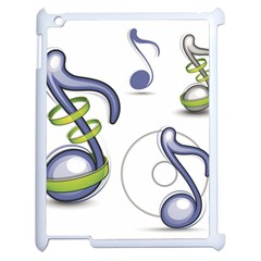 Notes Musical Elements Apple Ipad 2 Case (white) by Mariart