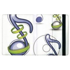 Notes Musical Elements Apple Ipad 2 Flip Case by Mariart