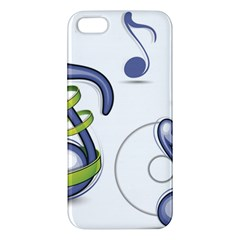 Notes Musical Elements Apple Iphone 5 Premium Hardshell Case by Mariart