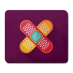 Plaster Scratch Sore Polka Line Purple Yellow Large Mousepads by Mariart
