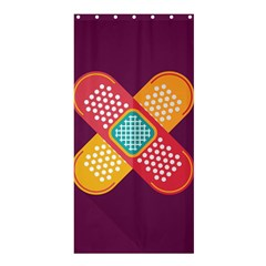 Plaster Scratch Sore Polka Line Purple Yellow Shower Curtain 36  X 72  (stall)